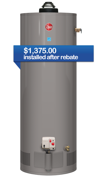 Energy Star Rated Natural Gas Tank Hot Water Heater